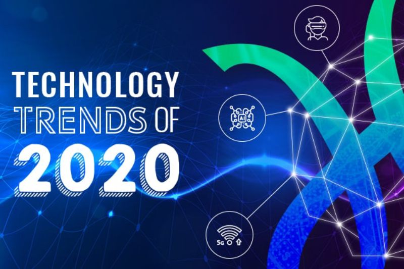 A Vector Illustrated Image Of Top Technology Trends 2020