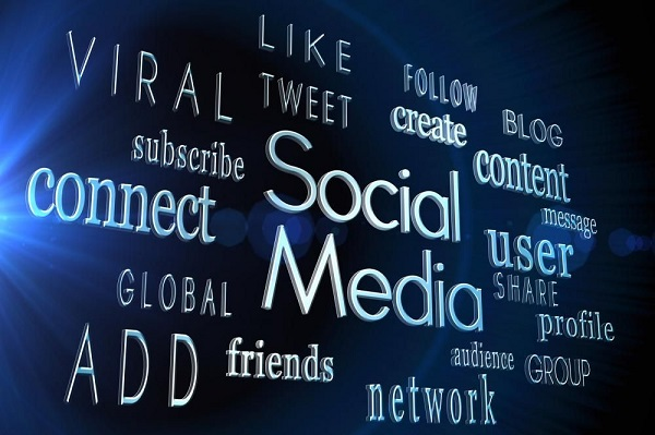 An image representing all the elements of Social media as a banner text